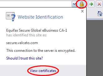 Click View Certificates